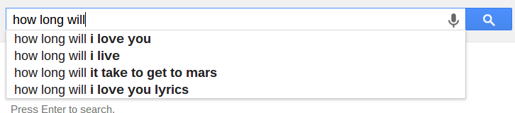 Unanswerable Questions: Google – Instant Relevance